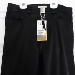 NWT Genuine Leather Pants H&M